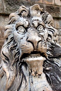 Lion Sculpture, Pele Castle, Transylvania, Romania, Europe