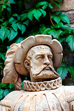 Sculpture, Pele Castle, Transylvania, Romania, Europe