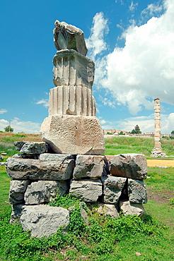 Temple of Artemis, antique city of Ephesus, Efes, Turkey, Western Asia
