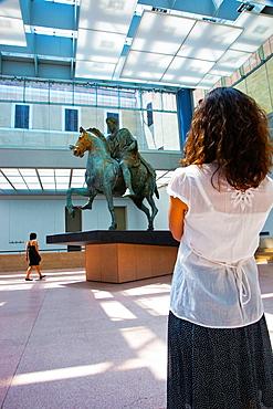 Marco Aurelio Monument, Capitolino Museum, Rome, Lazio, Italy.
