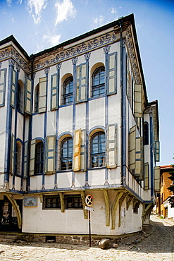 Plovdiv, old town, traditional houses, Bulgaria.