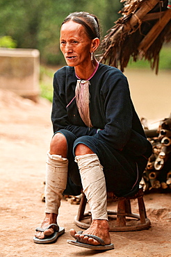 portrait of a Lanten woman, Luang Nam Tha, Laos