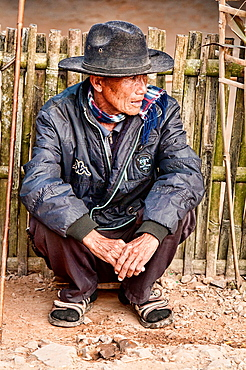 portrait of an ethnic Akha man, Phongsaly, Laos