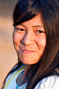 portrait of an Akha girl, Phongsaly, Laos