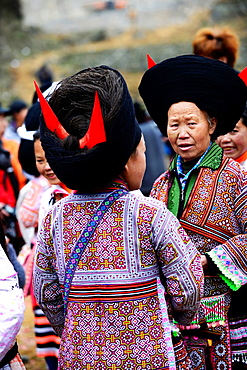 Short Horn Miao women in the region of Liupanshui in western Guizhou, China