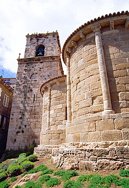 Apse and tower of Santa Maria del Campo church. La Coruna, Galicia, Spain.