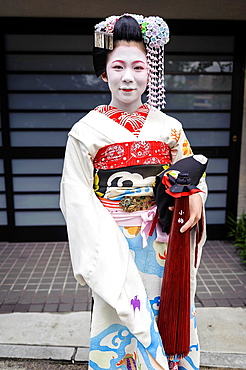 Maiko going to work, Kyoto, Japan