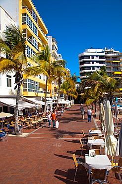 La Puntilla area at Canteras beach Santa Catalina district Las Palmas de Gran Canaria island the Canary Islands Spain Europe