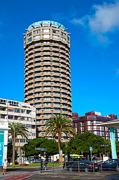 AC Hotel Gran Canaria Marriott is a landmark at Parque Santa Catalina district Las Palmas de Gran Canaria city Gran Canaria island the Canary Islands Spain Europe