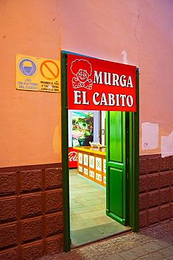 Bar exterior along Estevanez street Santa Cruz city Tenerife island Canary Islands Spain