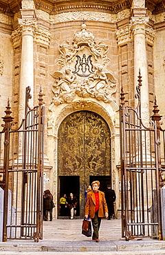 `De los Hierros'Gate,Cathedral,Valencia,Spain