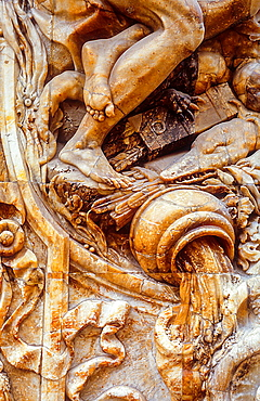 Detail,Facade of Marques de Dos Aguas palace 18th century,Valencia,Spain