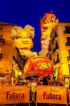 Falla of Pelayo,Fallas festival,Valencia,Spain