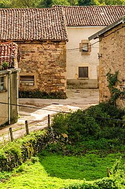 Typical architecture of Arrieta village, Arce Valley, Navarre, Spain