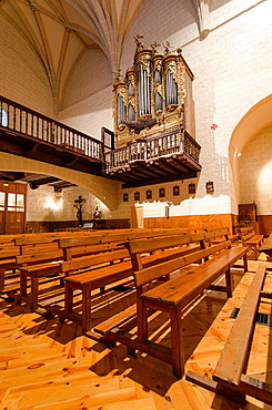 San Cipriano church interior, Isaba, Roncal Valley, Navarre, Spain