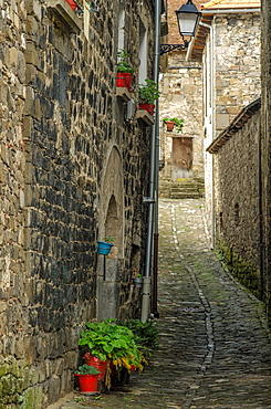 Typical architecture of Isaba town, Roncal Valley, Navarre, Spain