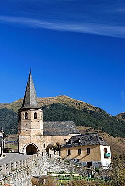 Gothic church, Sant Marti de Gausac, Val d'Aran, Catalonia, Spain
