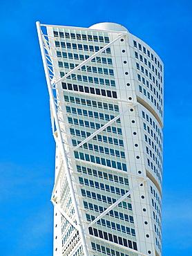 Turning Torso, with 190 metres highest skyscraper of Scandinavia, Malmo Municipality, Skane County, Sweden, Europe