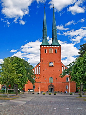 Vaxjo Cathedral, construction of the 14th century, Vaxjo Municipality, Kronoberg County, Sweden, Europe