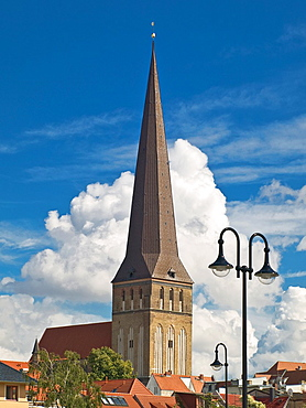 Protestant Lutheran St. Peter's Church, oldest Church of the City, Rostock, Mecklenburg-Western Pomerania, Germany, Europe