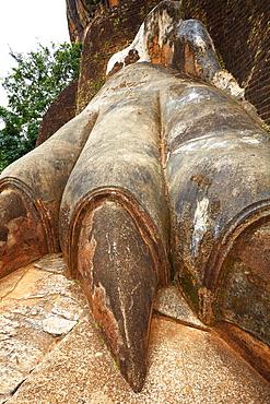 Sri Lanka, Sigiriya, Lion's Gate, detail, ancient Royal Fortress in Sri Lanka, UNESCO World Heritage Site