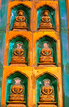 Detail Of Destroyd Buddha Heads At Temple At The Summer Palace In Bejing