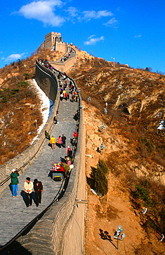 The Wall At Badaling With Tourists