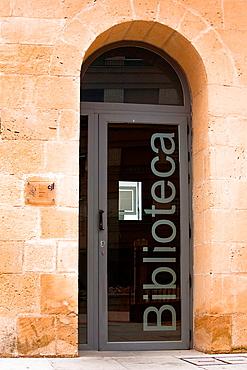 Gate of public library, Alcala La Real, Spain