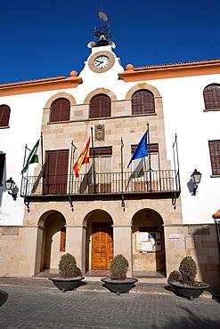 City hall of Sabiote at mid afternoon, Jaen, Spain