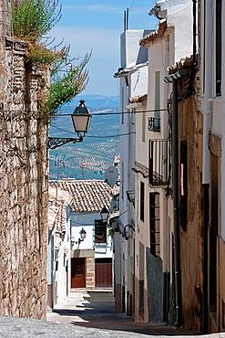Street of Sabiote in summer, Jaen, Spain