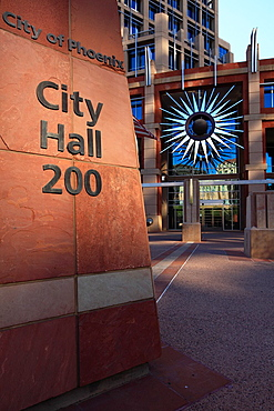 Phoenix City Hall in Downtown Phoenix  Arizona  USA.