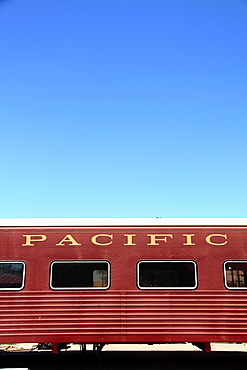 A historical passenger car in McCormick-Stillman Railroad Park  Scottsdale  Arizona  USA.