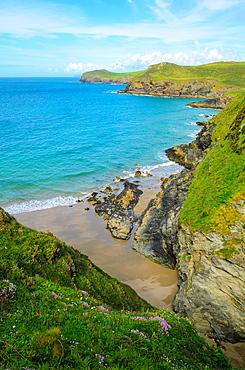 Lundy Bay near Port Quin, Cornwall, England.