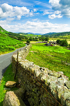 Little Langdale Valley in the English Lake District, Cumbria, England.