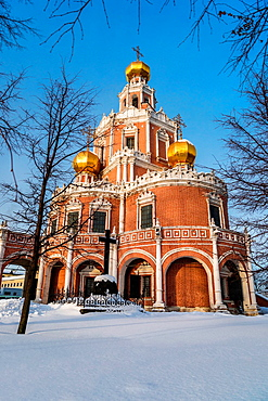 Church of the Intercession at Fili in Moscow (Russia).