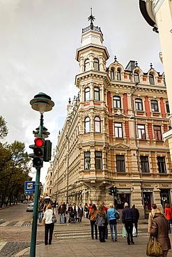 Old building in Helsinki city, Finland.