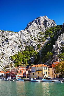 Croatia, Makarska Riviera, Omis Village, Dalmatia, Croatia.