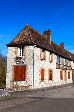 Architecture of Les Andelys, Haute Normandie, France.