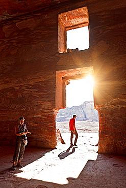 Petra ruins. jordan.