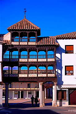 Plaza Mayor (Main Square), Tembleque, Toledo province, Castilla-La Mancha, Spain