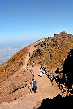 Mount Vesuvius, stratovolcano on the Gulf of Naples. Italy.