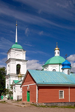 Saint Dormition Orthodox Monastery, founded in 1473, Petchory, near Pskov, Russia