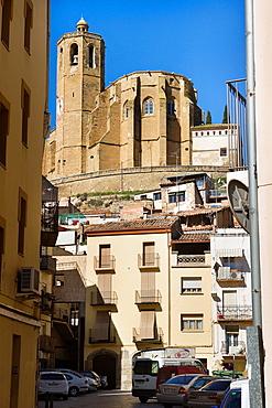 Balaguer, old town. Santa Maria church. Noguera county, Lleida province, Catalunya.