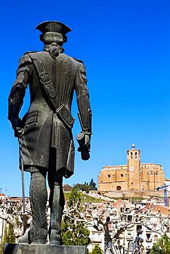 Gaspar de Portola† statue, front Santa Maria church. Balaguer, Noguera county, Lleida province, Catalunya.
