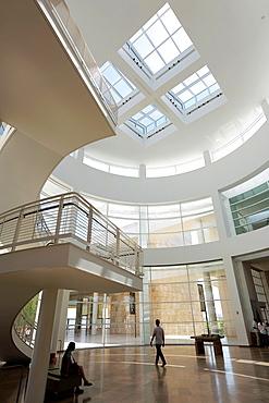 The interior view of the Rotunda of Getty Center. Los Angeles. California. USA
