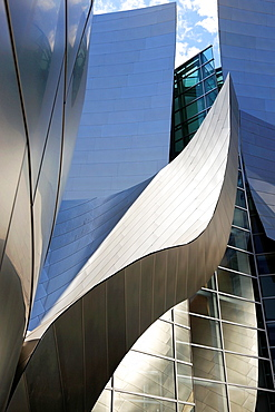 The architecture details of the exterior of Walt Disney Concert Hall. Los Angeles. California. USA.