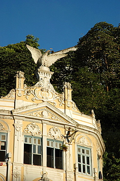 Salvador de Bahia, Bahia, Brazil, colonial building in the Cidade Baixa
