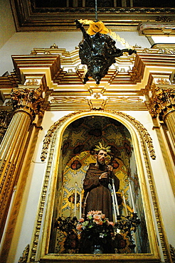 Salvador de Bahia, Bahia, Brazil, holy image at Igreja da Ordem Terceira Secular de Sao Francisco da Bahia
