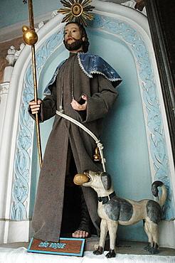 Salvador de Bahia, Bahia, Brazil, Igreja da Ordem Terceira Secular de Sao Francisco da Bahia, Sao Roqueís statue