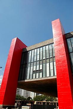 Sao Paulo, Brazil, the MASP Museum, along Avenida Paulista